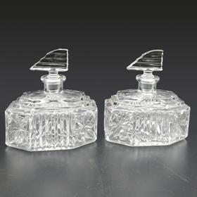 艺术装饰风格香水瓶 一对 1930's 英国制造