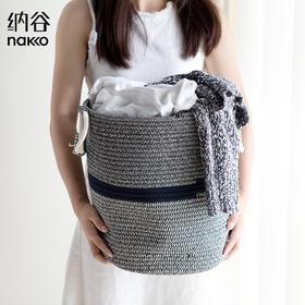 纳谷 | 棉线编织布艺脏衣篓收纳篮