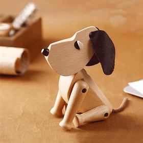 北欧风格  木狗丹麦摆件  木偶摆件  木质家居  创意生日礼物