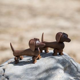 北欧风格  丹麦实肠狗家居饰品  木偶摆件  木质家居  创意生日礼物