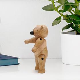 北欧风格  木质熊先生  丹麦木偶摆件  木质家居  创意生日礼物
