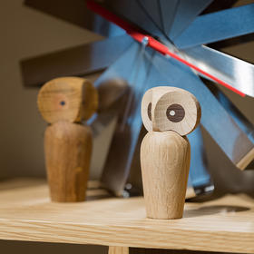 北欧风格  木制猫头鹰摆件  木偶摆件  木质家居  创意生日礼物