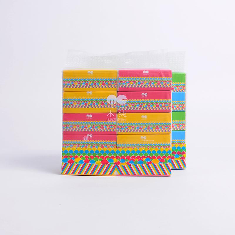【原创设计品牌】木纯10连包便携 本色面巾纸