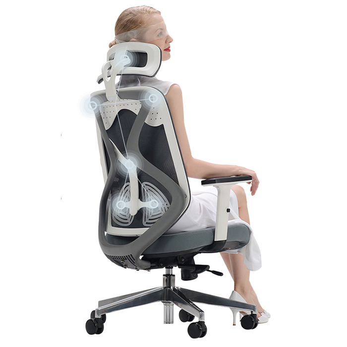 黑白調人體工學椅護腰電競座椅電腦椅家用簡約轉椅子工程學辦公椅