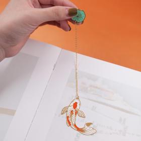 手心里锦鲤金属书签精致古典中国风古风定制创意小清新学生用礼品