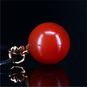 南红·轻奢瓦西料·玫瑰红圆珠项链