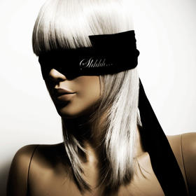 西班牙Bijoux黑色缎绸眼罩带