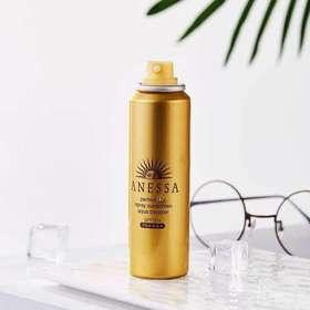【日本直采】日本Shiseido 资生堂安耐晒防晒喷雾SPF50+ PA++++(60g)金色-18年新