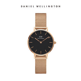 丹尼尔惠灵顿(DanielWellington)奚梦瑶明星同款DW女表金边金属表带28mm欧美简约学生时尚石英表DW00100217
