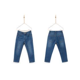 壹果Yiigoo 男童女童 布鲁布鲁轻弹直筒牛仔裤