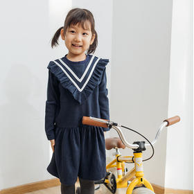 壹果Yiigoo 织带学院风亲子款T恤/连衣裙