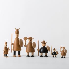 北欧风格 维京人  丹麦木偶摆件  木质家居  创意生日礼物