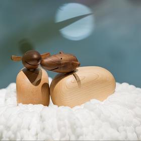 北欧风格  小羊  丹麦木偶摆件  木质家居  创意生日礼物