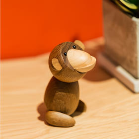 北欧风格  日本猴  丹麦木偶摆件  木质家居  创意生日礼物
