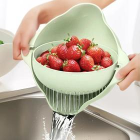 双层洗菜盆沥水篮洗水果洗菜神器菜篮厨房现代客厅创意家用水果盘