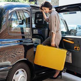 一场说走就走的旅行 ITO设计师品牌拉杆箱 Ginkgo系列 万向轮PC旅行箱 斜条纹 光面磨砂