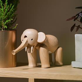 北欧风格  大象  丹麦木偶摆件  木质家居  创意生日礼物