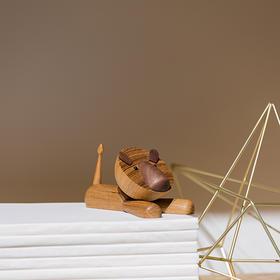 北欧风格  狮子  丹麦木偶摆件  木质家居  创意生日礼物
