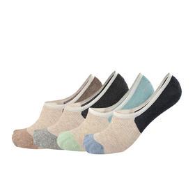 拼色隐形袜男士袜子短袜防臭吸汗纯棉船袜低帮浅口(4双)