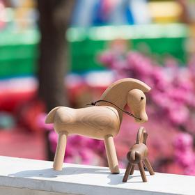 北欧风格  马  丹麦木偶摆件  木质家居  创意生日礼物