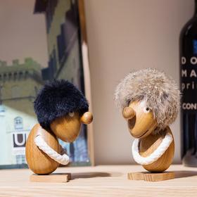 北欧风格  小毛人  乐观派  沉思者  丹麦木偶摆件  木质家居  创意生日礼物