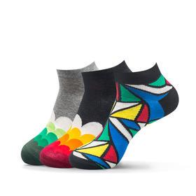 多彩波浪袜(3双)