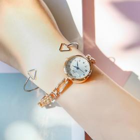 樱花粉少女心手表简洁学生手腕手表  文具