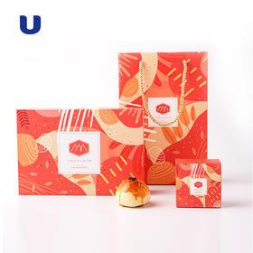 半岛优品丨牛肉/红豆/紫薯蛋黄酥 6粒精品礼盒装中秋送礼 京东包邮