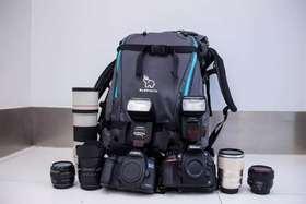 象小野双肩摄影包 单反相机 大容量  防震防水防划 专业户外