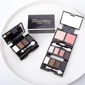 【泰国直采】泰国Mistine 迷你折叠10色彩妆盒  01#粉色系