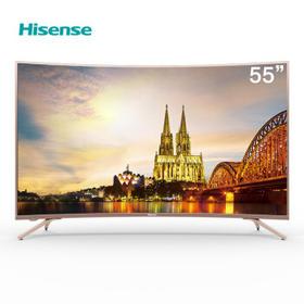 海信(Hisense) 4K超高清 HDR 人工智能液晶曲面电视 55英寸 HZ55A66【只支持白河本地销售】