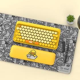 洛斐DOT圆点蓝牙机械键盘|小黄鸭熊本熊IP款、定制周边| 多系统兼容|清脆青轴|一拖三|支持有线连接
