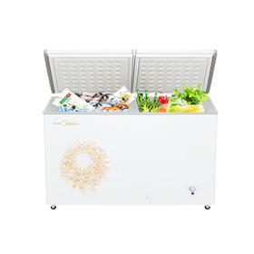 美的(Midea) BCD-269DKMA 卧式双温冰柜 冷藏冷冻商用冷柜 家用冰箱顶开门【只支持白河本地销售】