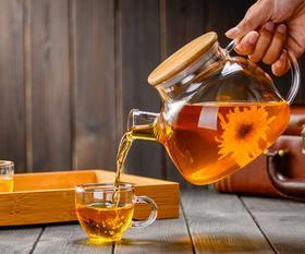 爆品!日式茶水壶玻璃耐高温防爆凉水壶果汁凉杯茶壶家用瓶耐热凉水杯
