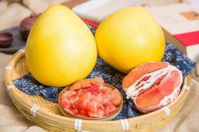 【福建琯溪蜜柚三红柚】平和三红柚2个(5-6斤)/鲜嫩多汁 酸甜可口 现摘现发