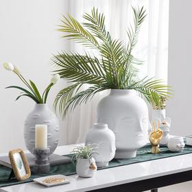 北欧风陶瓷缪斯人脸创意艺术花瓶摆件客厅插花家居装饰品