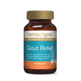 【精品推荐】【保税仓】澳洲HOG Gout Relief和丽康酸樱桃果芹菜籽痛风灵(60粒)*2瓶