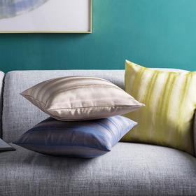 样板间客厅沙发床头抱枕套方枕靠包 利恩渐变条纹靠垫套