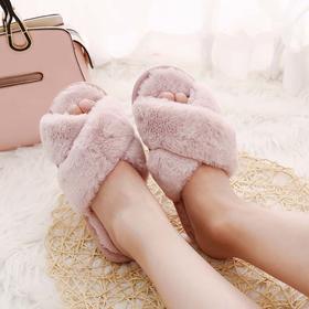 【好看到忍不住穿出街的时髦拖鞋】出口日本品质的时尚毛绒拖鞋  4种款式可选
