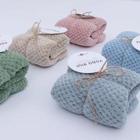 YODO XIUI日本珊瑚绒吸水毛巾超细纤维超强吸水面巾速干发毛巾帽