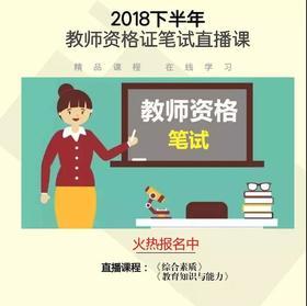 (两年有效)2018年下半年教师资格证笔试直播课