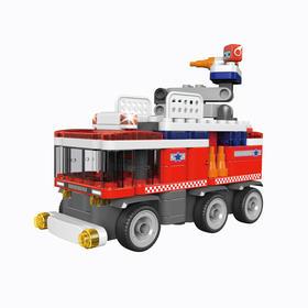 葡萄科技布鲁可系列 百变消防车 61062