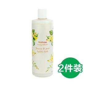 【英国直邮】英国 Waitrose 小苍兰 梨子味泡泡浴 500ml/瓶*2