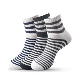 冬季精梳棉条纹毛圈袜 加厚保暖毛圈袜(3双)