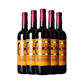 法国原瓶原装进口美丽干红微甜葡萄酒甜型餐酒750ml*6