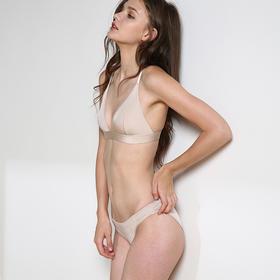 MIMI FANTASY 单层三角杯软杯无钢圈自然亲肤性感文胸套装