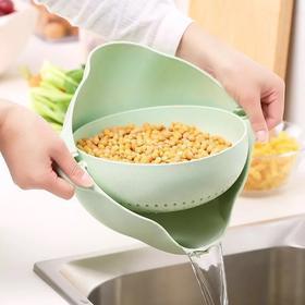 【家用洗菜好物】多功能 可沥水 时尚水果碗 塑料清洗盆 洗菜篮子 双层沥水篮