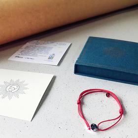 【小王子正版授权】精美纯银托帕石手绳|手工编织|长度可调节|红蓝CP款|守护你的纯真之梦