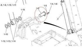 大臂油缸销轴SK75-8