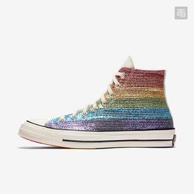 【情侣款】Converse Pride Chuck 1970 High Top彩虹系列高帮闪粉亮条板鞋